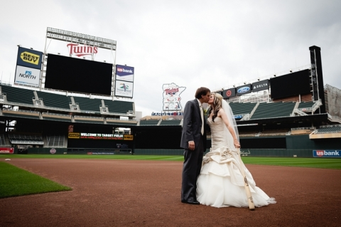 Target Field Weddings Via A Northwoods Wedding Midwest Blog