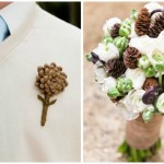 floral friday: pine cone bouquet
