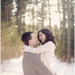 Minnesota Winter Engagement Session from Kate Wenzel Photography