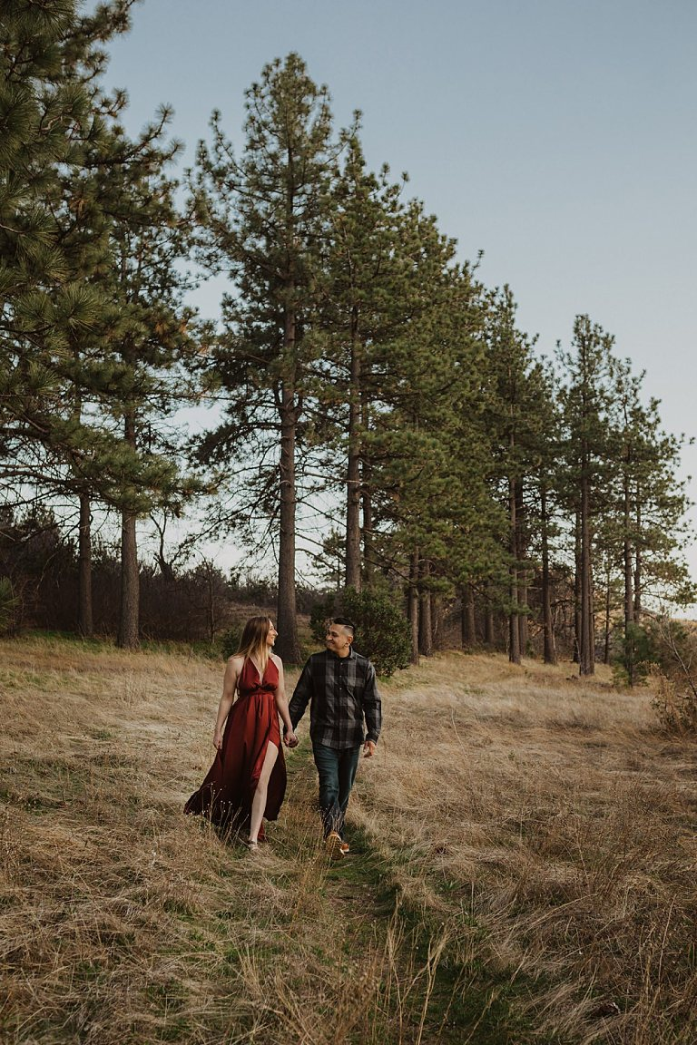 Moody Blue Hour Engagement Session at Lake Cuyamaca in San Diego California