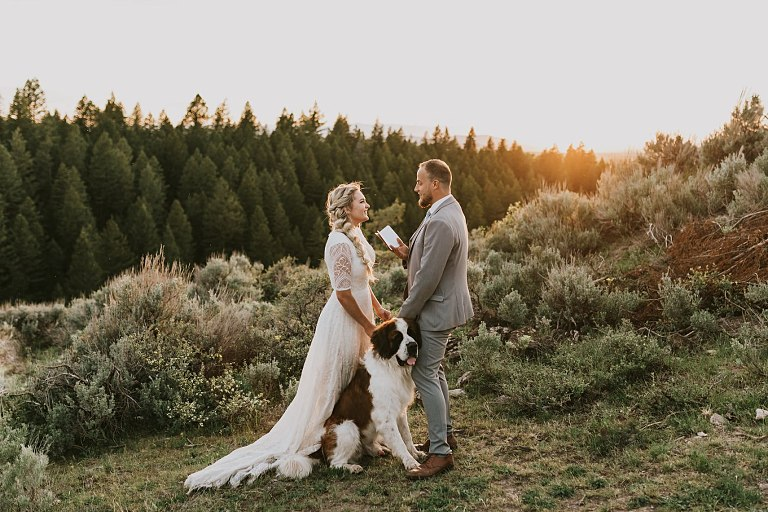Idaho Elopement Photographer with a Dog