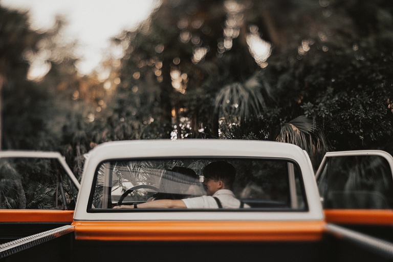 Vintage Inspired Engagement, rustic engagement photo outfits, Engagement Session with a pickup truck