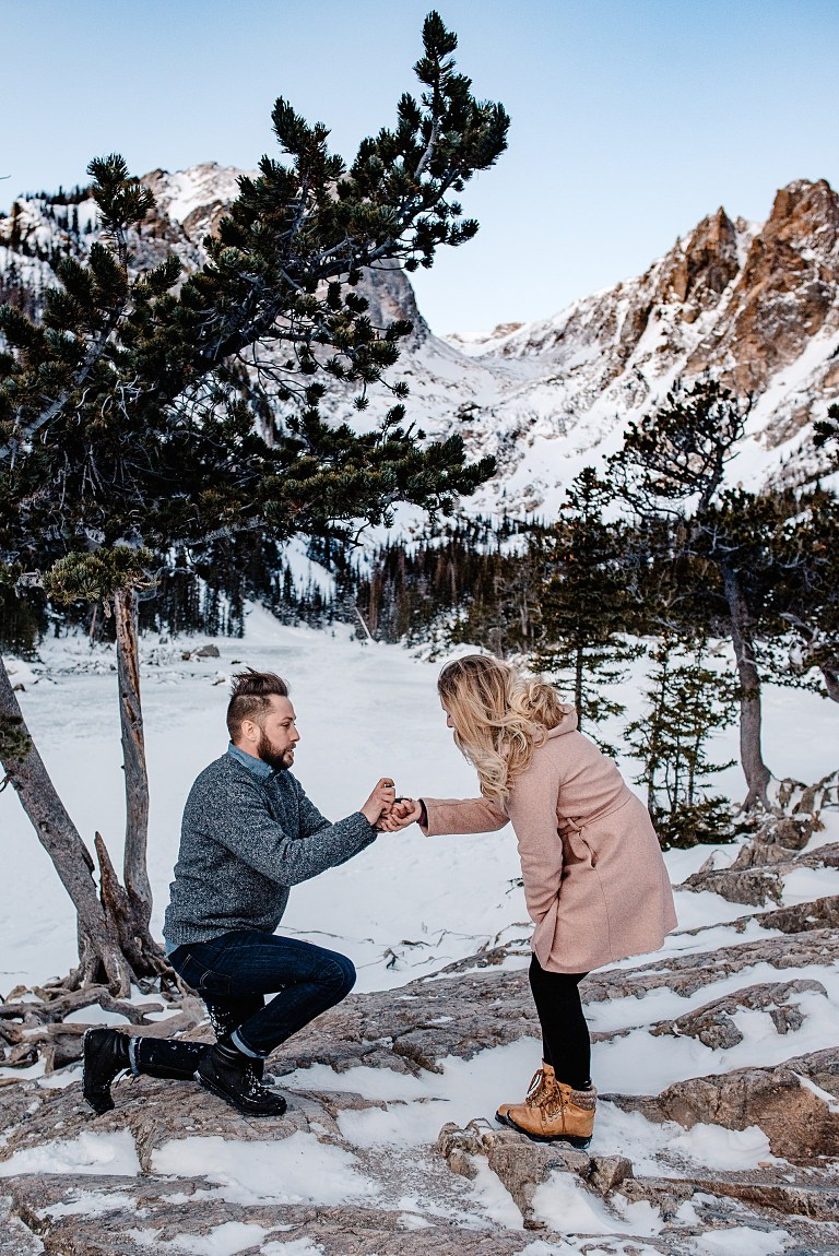 Winter Engagement in Colorado,  Snowy engagement photos in Colorado, colorado engagement photographers